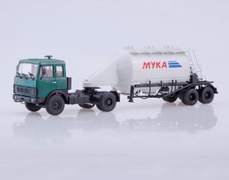 МАЗ-5432 с полуприцепом АСП-25, зеленый / белый