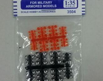 Фары габаритные / катафоты / поворотники для автомобилей и военной техники (набор 48 шт.), оранжевые