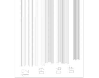 Маска для Полосы № 1 ширина 0,3/0,6/0,9/1,2 мм