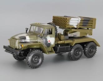 """БМ-21 """"Град"""" (Уральский грузовик 4320), камуфляж"""