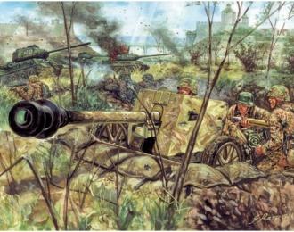 Сборная модель Пушка WWII GERMAN PAK40 AT GUN with crew