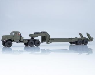 КРАЗ-255В с полуприцепом ЧМЗАП-5247Г, хаки
