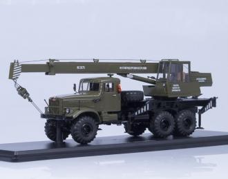 Автокран КС-3575 (на шасси КРАЗ-255Б1), хаки