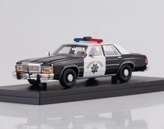 "FORD LTD Crown Victoria ""California Highway Patrol"" (1987), black"
