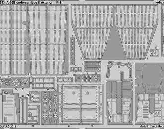 Фототравление для модели A-26B undercarriage & exterior