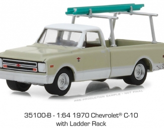 CHEVROLET C-10 pick-up with Ladder Rack 1970 Light Green/White