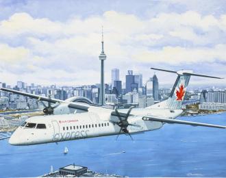 Сборная модель Ближнемагистральный самолет Dash 8 Q400 Air Canada