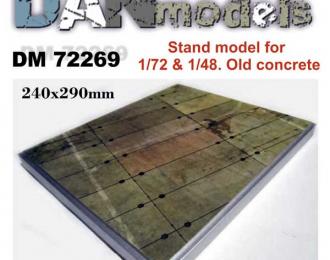 подставка для модели (тема - старая бетонка. Стоянка самолета.) размер 240мм*290мм (вес1250грамм)