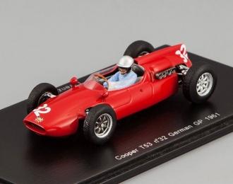 COOPER T53 32 German GP 1961 Lorenzo Bandini (FI), red