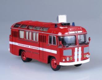 Павловский автобус 672М пожарный, красный