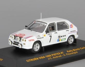 CITROEN Visa 1000 Pistes #7 J-C.Andruet-A.Peuvergne Rally Monte Carlo (1985), white