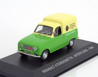 "RENAULT 4 Furgonetta ""INTERFLORA"" (1966), green / yellow"