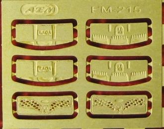 Фототравление Дефлекторы капота ВАЗ 2105, 2107
