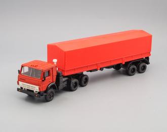 Камский грузовик 5410 с полуприцепом ОДАЗ-9370, красный