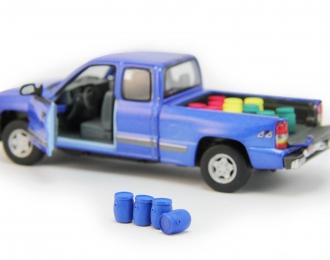 Набор пластиковых евробочек (20 литров) 4 шт, синий