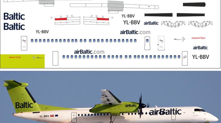 Декаль на Air Baltic De Havilland Canada DHC-8-402Q Dash 8