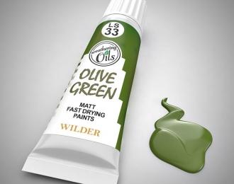 """Масляная краска """"оливковый зеленый"""""""