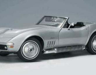 CHEVROLET Corvette in Cortez Silver Diecast 1969, Silver