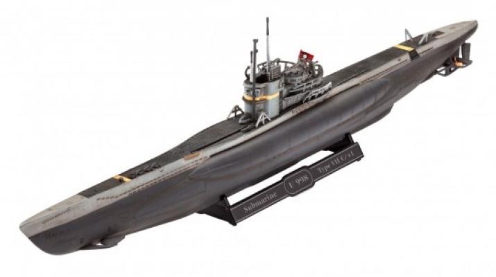 Сборная модель Немецкая подводная лодка Тип VII C/4 (Подарочный набор)