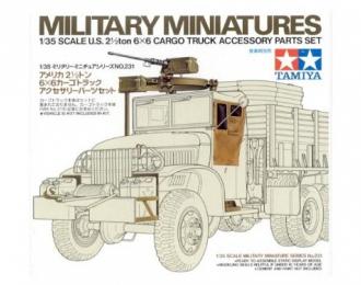 Сборная модель Доп.набор для 35218 (пулемет на крышу, брезент. двери, подставка на бампер, крюк для лебедки, собака и др.)