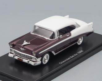 (Уценка!) CHEVROLET Bel Air Sport Coupe 1956 White/Metallic Dark Red