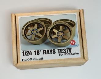 Набор для доработки - 18' RAYS TE37V Wheels для моделей Jdm Series (Resin+Metal Wheels)