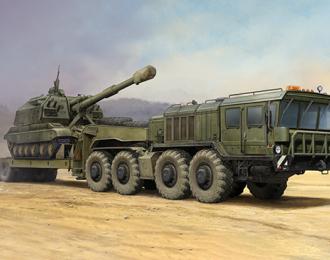 Сборная модель Автомобиль Russian KZKT-7428 Transporter with KZKT-9101 Semi-Trailer