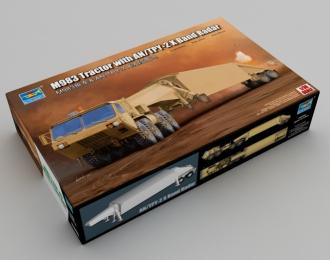 Сборная модель Военный автомобиль HEMTT M983 радиолокационной станцией системы раннего оповещения AN/TPY-2