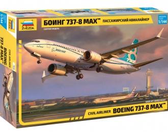 """Сборная модель Пассажирский авиалайнер """"Боинг 737-8 MAX"""""""