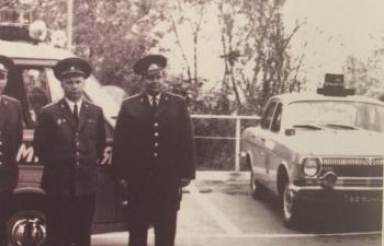 Горький 24 Милиция Москва (68-63 моц) - 10-й отдел ГАИ (сопровождение) - цветографическая схема после 1974 г.