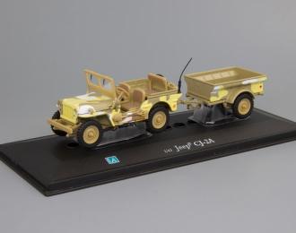JEEP Willys CJ-2A с прицепом,  песочный камуфляж