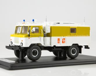 КШМ Р-142 (66) сопровождение олимпийского огня, белый / желтый