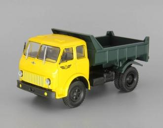 МАЗ-503Б (1963) самосвал, желтый / зеленый
