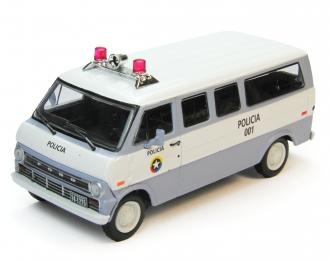 FORD Econoline Полиция Колумбии, Полицейские Машины Мира 69, бело-голубой