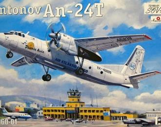 Сборная модель Советский пассажирский самолет Ан-24Т (Phoenix Avia)