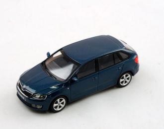 Škoda Rapid Spaceback modrá 1:43 - Abrex časopis