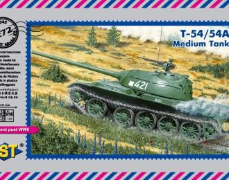 Сборная модель Средний танк T-54/54A