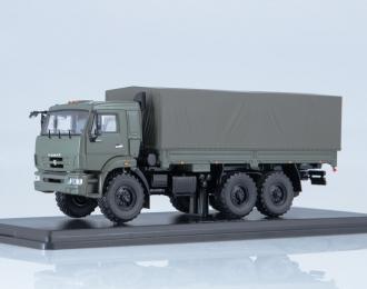 КАМАЗ-43118 бортовой с тентом, хаки