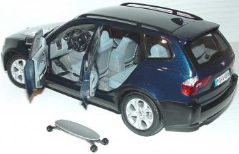 BMW X3 E83 (2004), mystic blau met.