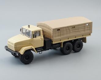 (Конверсия!) КРАЗ 260 бортовой с тентом (1989), песочный