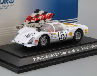 PORSCHE 906 Carrera Japan Grand Prix #6 (1967), white