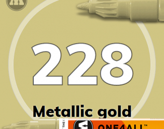 Маркер MOLOTOW ONE4ALL 127HS-CO METALLIC 228 Золото 1,5 мм
