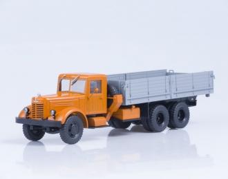 ЯАЗ 210 бортовой, оранжевый / серый
