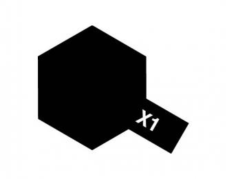 X-1 Black (краска эмалевая, черный глянцевый), 10 мл.