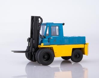 Львовский автопогрузчик АП-4014, жёлто-голубой