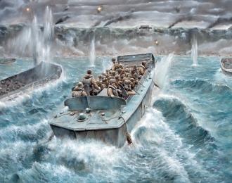 Сборная модель Десантное судно LCVP с пехотой США