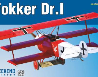 Сборная модель Немецкий самолёт Первой Мировой Fokker Dr.I