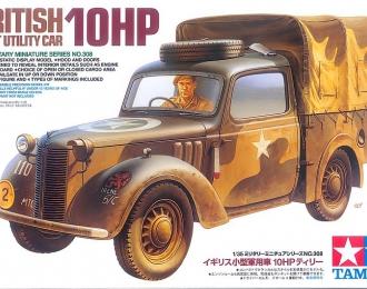 Сборная модель Британский легкий многоцелевой автомобиль 10 HP с фигурой водителя