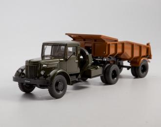 МАЗ-200В с полуприцепом МАЗ-5232В, хаки / оранжевый