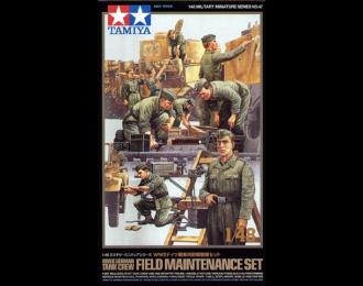 Обслуживающий персонал, 9 фигур, ящики для снарядов, канистры и проч.
